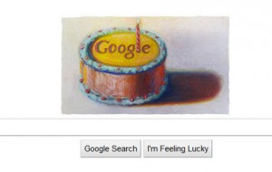 Google Cake 12 years