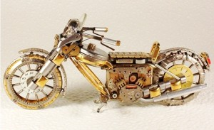 Toy Motorcycles Created from Watch Parts