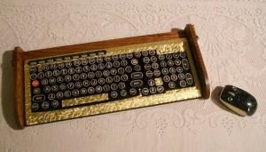 Wireless Keyboard + Victorian Typewriter = something very cool