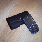 BlackBerry Curve Leather Holster Black