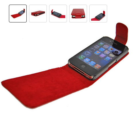 iPhone 4 Red Flip Case