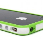 White and Green Premium Bumper Case for Apple iPhone 4 – AT&T