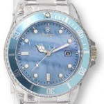 Avalon Chiasso Series Clear Plastic Sport Watch w/ Genuine Mother of Pearl Dial # 7408-7A