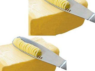 Stainless Steel Butter Spreader, Knife - 3 in 1 Kitchen Gadgets (2 Set)