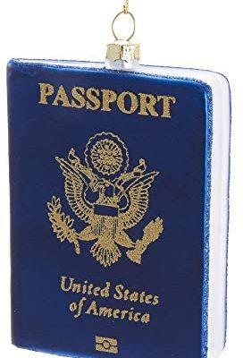Kurt Adler Glass US Passport Ornament