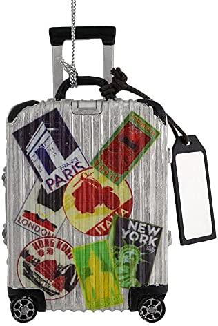Kurt Adler Travel Luggage Ornament