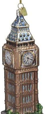 Kurt Adler 5-1/2-Inch Noble Gems Glass Big Ben Ornament