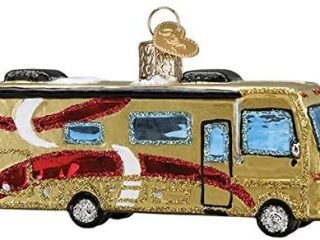 Old-World Christmas Glass Blown Ornament with S-Hook and Gift Box, Travel Collection (Class A Motorhome, 46092)