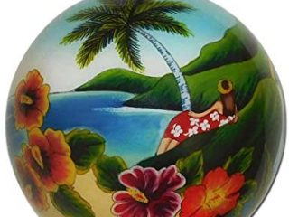 Scenic Hawaiian Ornament Collectible Hand-Painted Glass with Gift Box OTH/H
